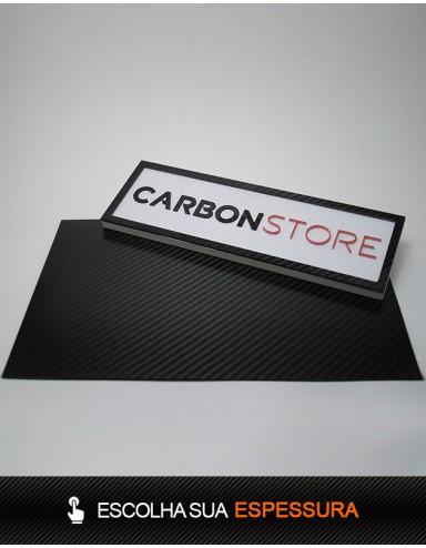 Placa de Fibra de Carbono 500 x 390 mm | Lixado