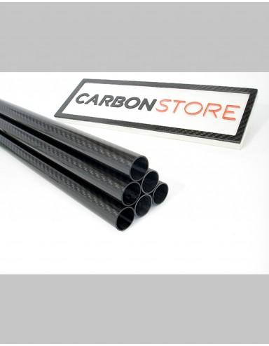 Tubo de Fibra de Carbono 16 x 14 x 500 mm | Brilhante