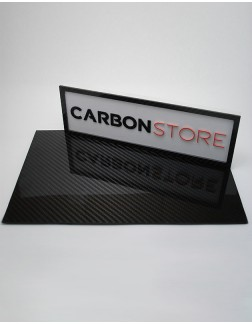Placa de Fibra de Carbono 390 x 250 x 3,0 mm | Brilhante