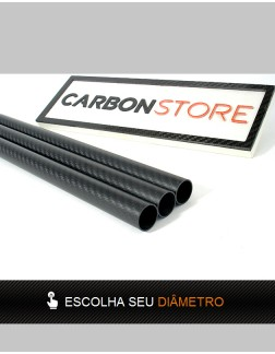 Tubo de Fibra de Carbono 1000 mm | Fosco