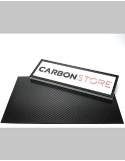 Placa de Fibra de Carbono 380 x 240 x 0,40 mm | Lixado